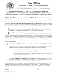 """Overtime Compensation Election/Agreement Form"" - Utah"