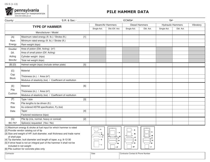 Form CS-5  Printable Pdf
