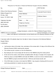 """Form 1669 """"Request for Review of National Medical Support Notice (Nmsn)"""" - Texas"""