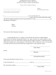 """Form APECS801 """"Change of Payee Temporary Request"""" - Virginia"""