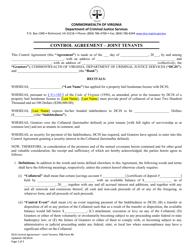 "PBB Form 6 ""Control Agreement - Joint Tenants"" - Virginia"
