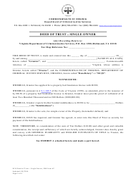 "PBB Form 7 ""Deed of Trust - Single Owner"" - Virginia"