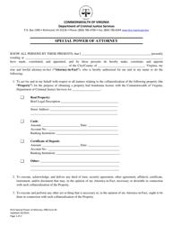 "PBB Form 2 ""Special Power of Attorney"" - Virginia"
