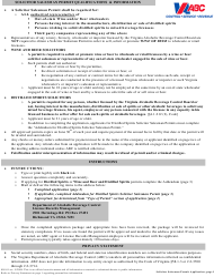 "Form 805-81 ""Application for Solicitor Salesman Permit"" - Virginia"