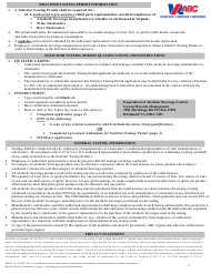 """Form 805-97 """"Application for Solicitor Tasting Permit"""" - Virginia"""