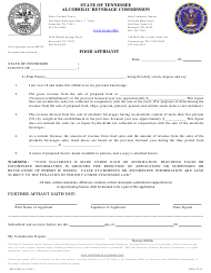 """Form AB-0106 """"Food Affidavit"""" - Tennessee"""