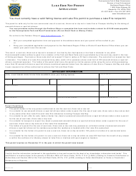 "Form PFBC-170 ""Lake Erie Net Permit Application"" - Pennsylvania"