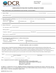 """Form DCR199-214 """"Simplified Inundation Mapping Request Form"""" - Virginia"""