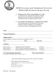 "Form DCR199-168 ""Low Impact Development (Lid) Product Order Form"" - Virginia"