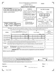 """Form C-5 """"Adjustment Report"""" - Texas"""
