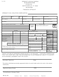 "Form 228J ""Financial Affidavit"" - Vermont"