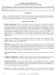 "Form 908 ""Foreign Corporate Fiduciary Estates Code Filing"" - Texas"