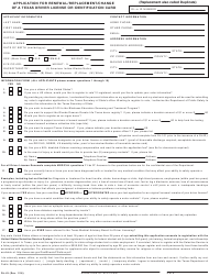 "Form DL-43 ""Application for Renewal/Replacement/Change of a Texas Driver License or Identification Card"" - Texas (English/Spanish)"