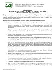 "Form BRT-004 ""Affidavit for Transfer of Watercraft Registration/Title"" - Virginia"