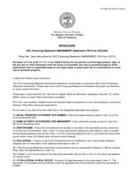 "Form UCC3AD ""Ucc Financing Statement Amendment Addendum"" - Tennessee"