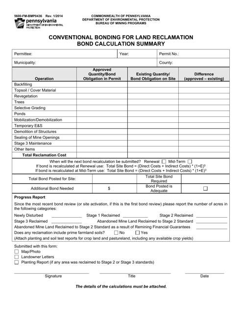 Form 5600-FM-BMP0436  Printable Pdf