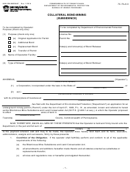 "Form 5600-FM-BMP0407 ""Collateral Bond-Mining (Subsidence)"" - Pennsylvania"