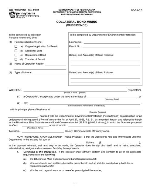 Form 5600-FM-BMP0407  Printable Pdf