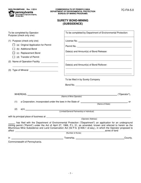 Form 5600-FM-BMP0408  Printable Pdf