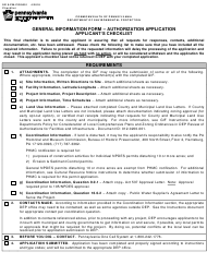 "Form 0210-PM-PIO0001 ""General Information Form -authorization Application Applicant's Checklist"" - Pennsylvania"