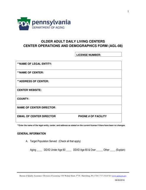 Form AGL-08  Printable Pdf