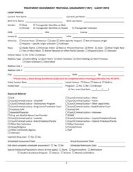 """Treatment Assignment Protocol Assessment (Tap) - Client Info"" - Pennsylvania"