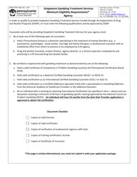 "Form DDAP-EFM-1300 ""Gambling Treatment Program Provider Application - Agency"" - Pennsylvania"