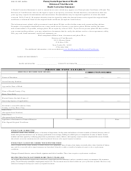 "Form H105.135 ""Death Correction Statement"" - Pennsylvania"