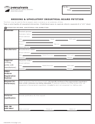 "Form Liib-306 ""Bedding & Upholstery Industrial Board Petition"" - Pennsylvania"