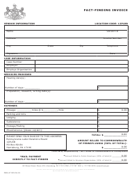 "Form PERA-47 ""Fact-Finding Invoice"" - Pennsylvania"
