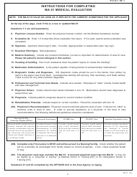 "Form MA-51 ""Medical Evaluation"" - Pennsylvania"