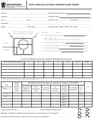 "Form CS-6 ""Pipe Installation Inspection Form"" - Pennsylvania"