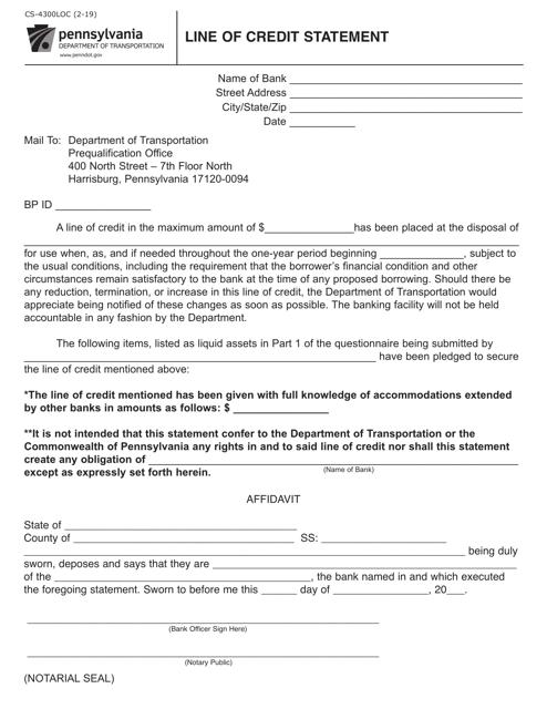 Form CS-4300LOC  Printable Pdf