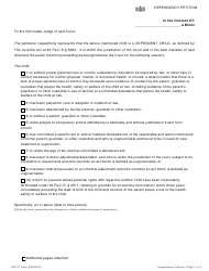 """Dependency Petition Form"" - Pennsylvania"