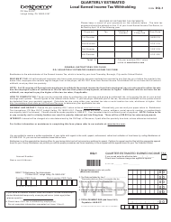 "Form DQ-1 ""Quarterly Estimated Local Earned Income Tax Withholding"" - Pennsylvania"