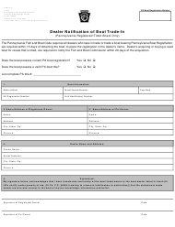 "Form PFBC-TS1 ""Dealer Notification of Boat Trade-In"" - Pennsylvania"