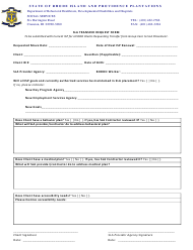 """Sla Transfer Request Form"" - Rhode Island"