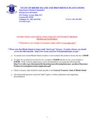 """Individual Life Settlement Broker Application Form"" - Rhode Island"