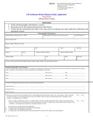 """Life Settlement Broker Business Entity Licensing Application (Amendment)"" - Rhode Island"