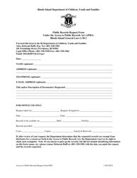 """Public Records Request Form"" - Rhode Island"