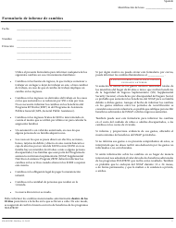 """Formulario SNAP/RIW-200 """"Formulario De Informe De Cambios"""" - Rhode Island (Spanish)"""