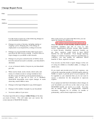 "Form SNAP/RIW-200 ""Change Report Form"" - Rhode Island"