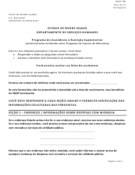 "Form SNAP2M ""Interim Report"" - Rhode Island (Portuguese)"