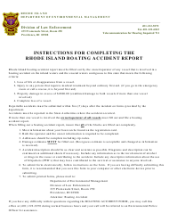 """""""Boating Accident Report"""" - Rhode Island"""