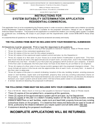 """""""System Suitability Determination Application - Residential/Commercial"""" - Rhode Island"""