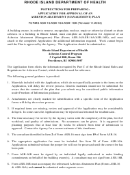 """Form ASB-16 """"Application for Approval of an Asbestos Abatement Plan"""" - Rhode Island"""