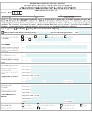 "Form TAN ""Application for Registration Tanning Equipment"" - Rhode Island"