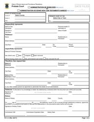 "Form PC-1.2 ""Administration De Bonis Non or Administration De Bonis Non Cum Testamento Annexo"" - Rhode Island"