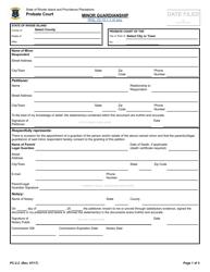 "Form PC-2.2 ""Minor Guardianship"" - Rhode Island"