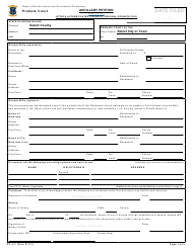 "Form PC-1.3 ""Ancillary Petition"" - Rhode Island"
